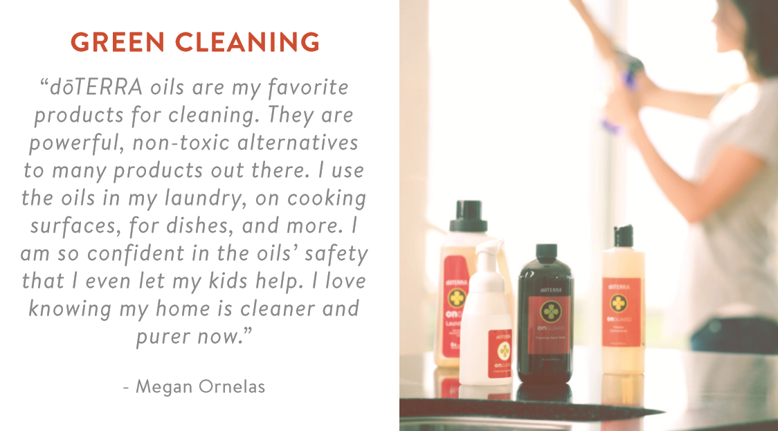Testimonial Doterra Green Cleaning Kiddo Korner